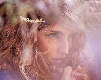 Venus Vines & Pearls Headband, Golden Leaves Tiara, Bridal Wreath, Greek Goddess Headband, Grecian Boho Crown, Bridal Hair Accessories