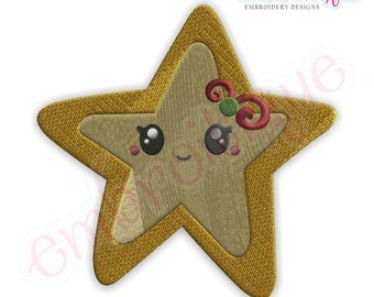 Christmas Star - Instant Email Delivery Download Machine embroidery design