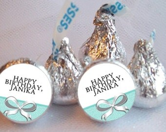 Candy Stickers, Aqua Blue Colors  Bows, Favors, Wedding, Bridal Shower, Baby Shower, Birthday, Sheet of 108