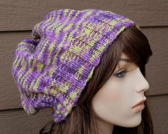 Knit Hat Pattern, Knitting Pattern, Slouch Hat Pattern, Knitted Hat
