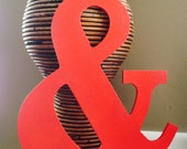 """AMPERSAND 10"""" Shabby Chic RED Photo Prop Engagement Prop Valentines Day Home Decor"""