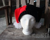 Harley Quinn Hat - Crochet Beanie - All Sizes Adult to Newborn