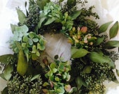 Hydrangea and Eucalyptus Wreath -