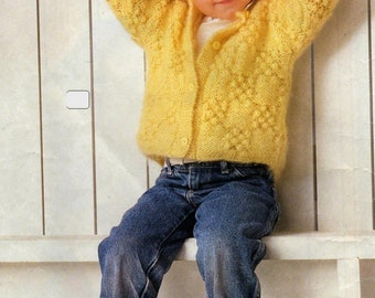 KNITTING Pattern  - Child's Sweater/Jacket/Cardigan -  23 to 24 inch chest
