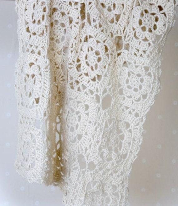 Crochet Heirloom Stitches : CROCHET Pattern - Heirloom Antique Baby Blanket Shawl - Motif crochet