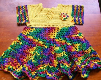 Crochet Baby Dress Handmade
