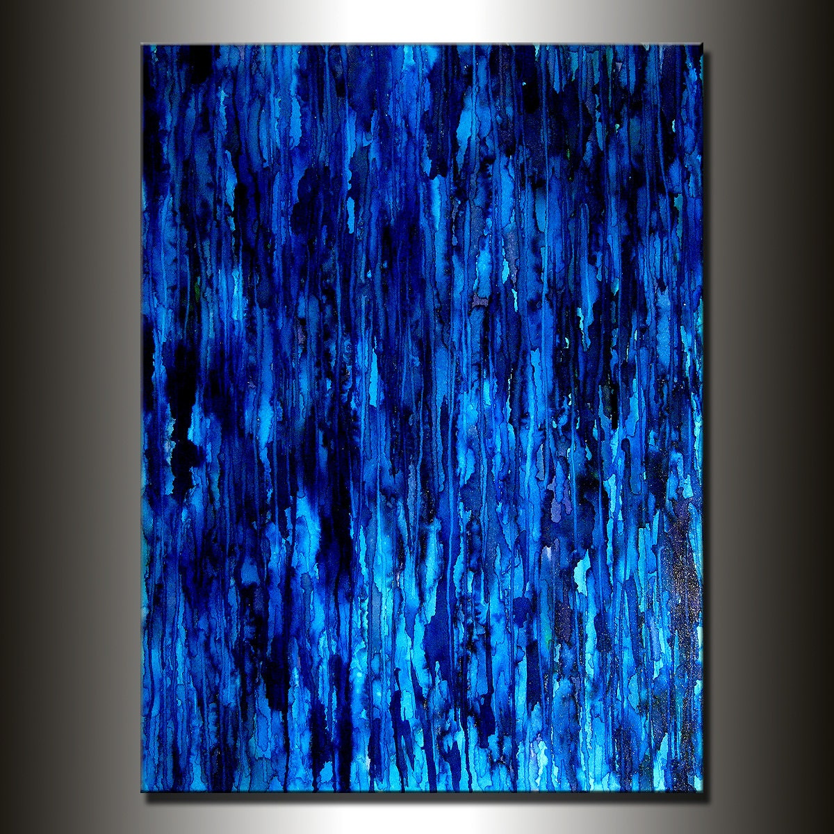 Modern Painting Original Large Blue Abstract by ...