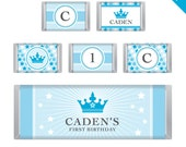 Prince Party - Personalized DIY printable Hershey bar labels