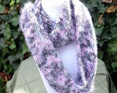 Hand Knit Infinity Scarf - Hand Knit Eternity Scarf- Hand Knit Cowl Scarf- Knit womens scarf- Winter scarf- Wrap around scarf- multicolor