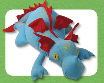 Diggles the Friendly Dragon Sewing Pattern