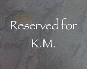Reserved for KM Only