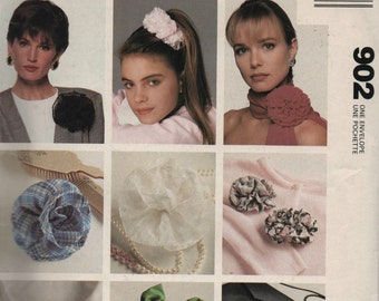Hair Accessories McCalls Craft 902 Sewing Pattern Uncut