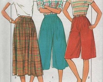 Misses Culottes  Style 3843  Sewing Pattern Uncut