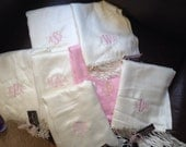 8 BRIDESMAID PERSONALIZED PASHMINA Wraps Shawls Choose Mix Colors and Monograms