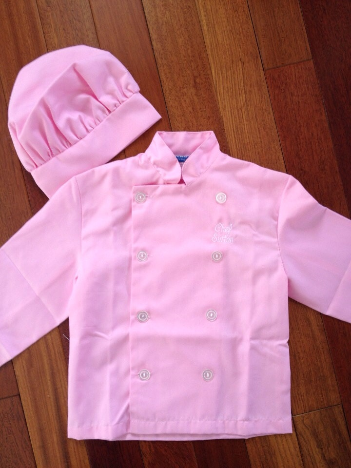 Now In Pink Personalized Chef Jacket Hat For Kitchen Use Or