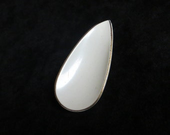 White Tear Drop Drawer Pull Shabby Vintage Hardware
