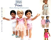 """Prima Dance Sewing Pattern by Dollhouse Designs for 18"""" American Girl Dolls PDF  DIGITAL DOWNLOAD"""
