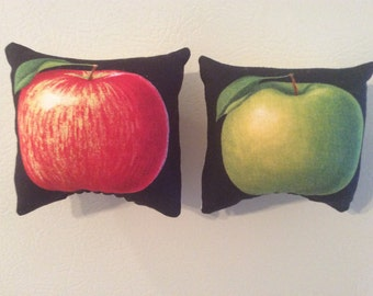 Red and Green Apple Pillow Magnets