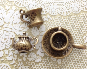 Assorted Tea Time Antique Bronze Trinkets