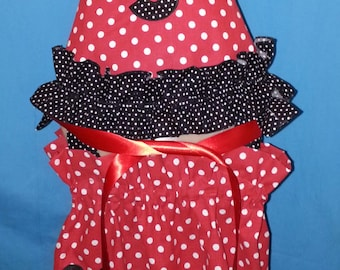 Boutique OOAK Pillowcase Cutie Collection Mickey Mouse Birthday  Dress Set