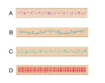 Pretty Japanese Border Wooden Rubber Stamp for Scrapbooking, Labeling, Tags Cards Making, Packaging, Party Favor
