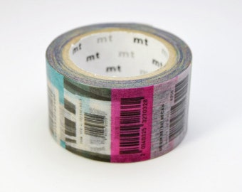 Limited Edition mt Japanese Washi Masking Tape Vol.1  - Barcode 25mm wide for packaging, deco