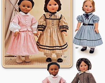 """18 inch Historical Doll Dresses Pattern, 18"""" Doll Clothes Pattern, Simplicity Pattern 1391"""