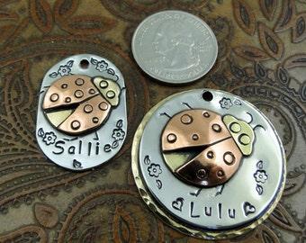 Ladybug Custom Dog ID Tag,Dog Tag for Dogs,Dog ID Tag, Personalized Dog Collar ID Tag, Pets