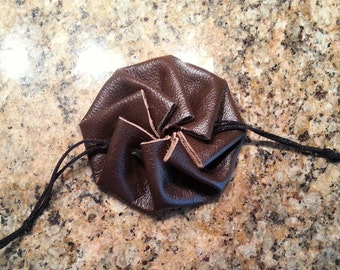Leather Circle Pouch