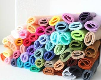 Merino Wool Blend Felt - You Choose 20 6x9 Sheets