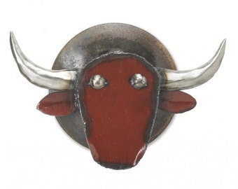 Metal Sculpture Blaze the Bull Wall Art
