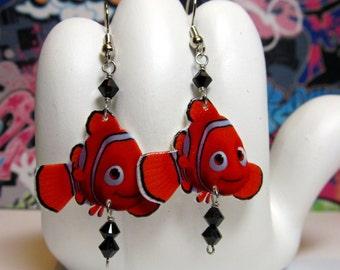 Finding Nemo Clownfish Dangle Earrings