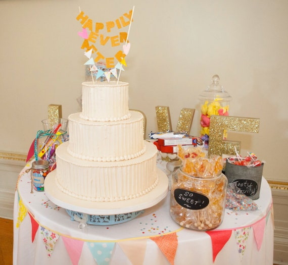 Happily Ever After Cake Banner