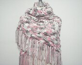 Blossom Pink crochet shawl