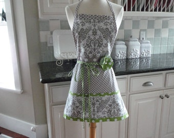 "Mama Said There'd be Grays Like This ~ Cute for Mother's Day ~ Easter ~  ""Pockets & More Style "" Women's Apron ~ 4RetroSisters"
