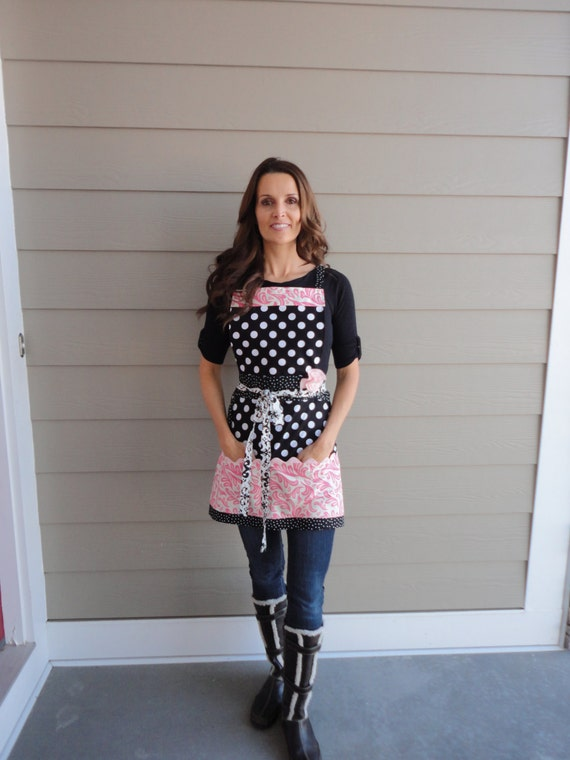 My Girl  ~ Pockets & More Style   ~  Women's Kitchen ~Vendor ~ Teacher Apron~ 4RetroSisters