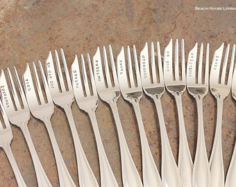 Dessert Fork | Your Choice of Word | Gift for the Baker, Pastry Chef Made to Order
