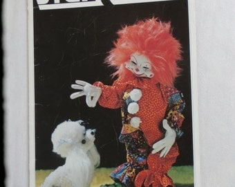 1970s Stuffed Toy Craft Book Lovable Stuffables, 1977 Zims Make Dolls and Animals CLEARANCE