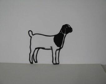 Goat 015 Metal Wall Yard Art Silhouette
