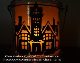 Halloween Lantern Luminary HAUNTED HOUSE