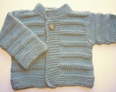 Hand Knitted Baby Sweater Hand knit Baby Cardigan Knit Baby Jacket Made to order