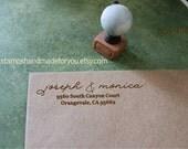 Custom Address Rubber Stamp SELF INKING --save the date custom stamp-wedding stamp