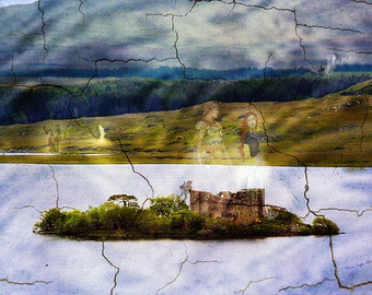 The Lost Kingdom- mixed media art- digital art collage- altered art- photo montage- fine art print- wall art- home decor- fantasy art- gift