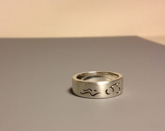 Sterling Silver Triathlon Band
