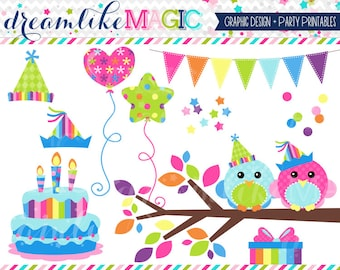 Sweet Tweet Party Chickadees- Clipart for Personal or Commercial Use