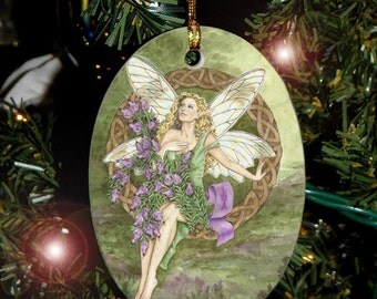 Celtic Heather Fairy Ornament