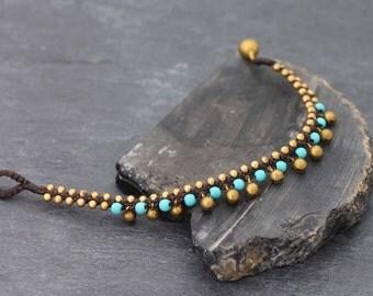 Turquoise Mini Bell Drop Down Bracelet