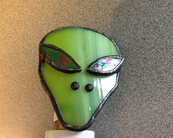 Stained Glass Alien Night Light