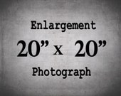 20x20, Large Wall Decor, Large Wall Art, 20x20 Print, Custom Enlargement
