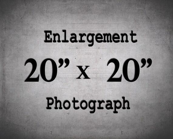20x20 Prints, Large Wall Art, 20x20 Photo, Custom Enlargement